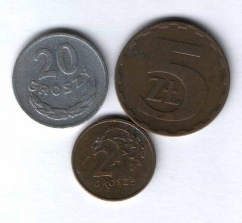 Набор монет Польша 1968-1992 г. 3 шт.
