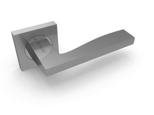 Ручка дверная Rock KM SN-CP матовый никель-хром
