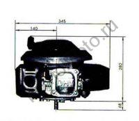 Двигатель Lifan 1P70FV-C D22 (6 л. с.) с вертикальным валом 22 мм.