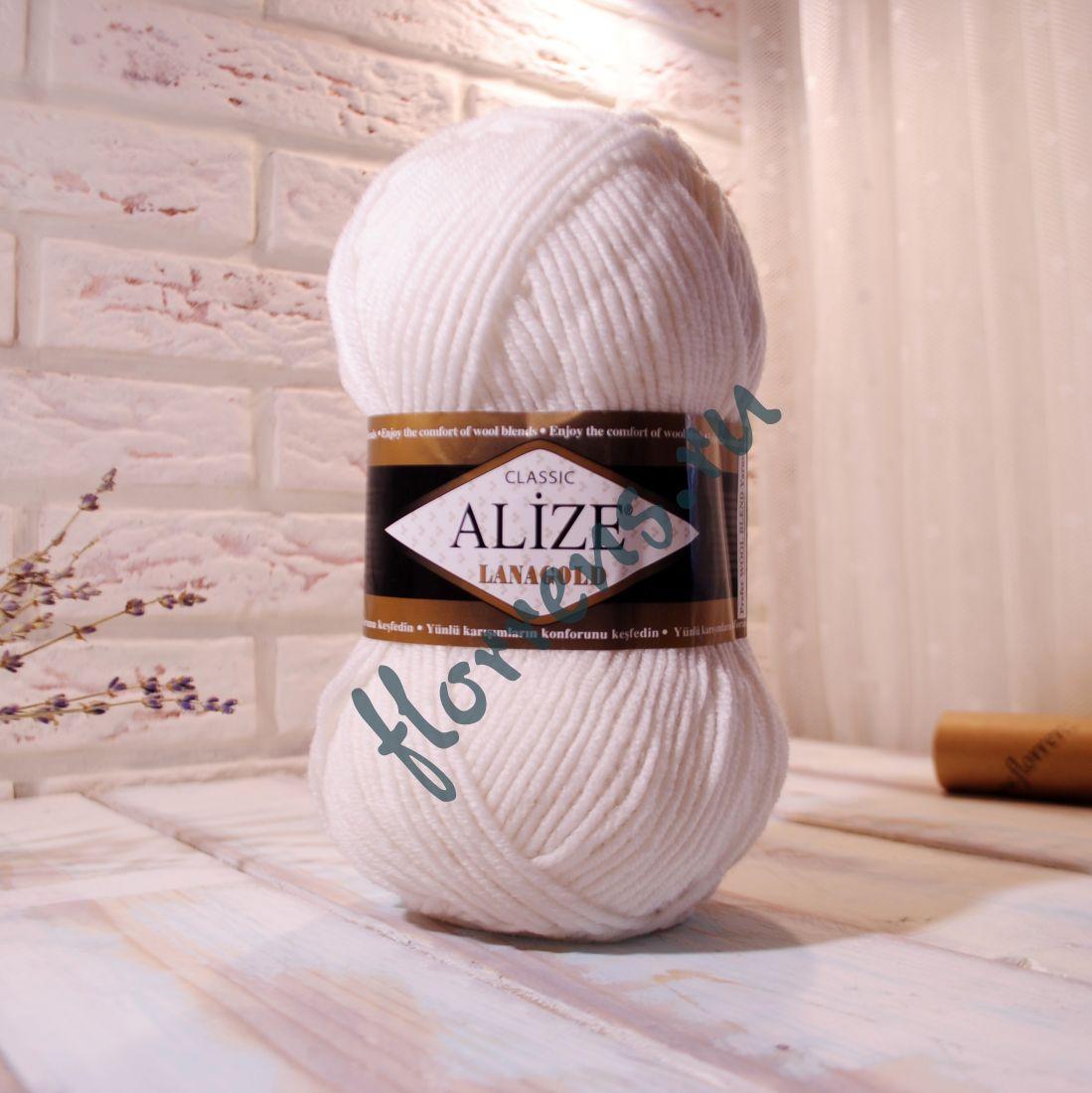Пряжа Alize Lanagold / 55 белый