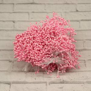 Тычинки перламутровые двусторонние, 3х60мм, цвет №02 светло-розовый (1уп = 1500-1600 тычинок)