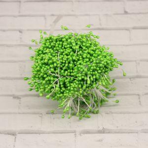 Тычинки перламутровые двусторонние, 3х60мм, цвет №09 светло-зеленый (1уп = 1500-1600 тычинок)