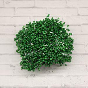 Тычинки перламутровые двусторонние, 3х60мм, цвет №10 зеленый (1уп = 1500-1600 тычинок)