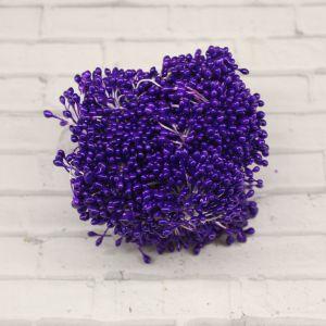 Тычинки перламутровые двусторонние, 3х60мм, цвет №15 темно-сиреневый (1уп = 1500-1600 тычинок)