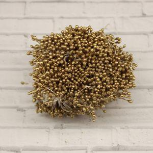 Тычинки перламутровые двусторонние, 3х60мм, цвет №22 золото (1уп = 1500-1600 тычинок)