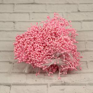 `Тычинки перламутровые двусторонние, 3х60мм, цвет №02 светло-розовый (1уп = 70-80 тычинок)