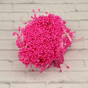 `Тычинки перламутровые двусторонние, 3х60мм, цвет №04 ярко-розовый (1уп = 70-80 тычинок)