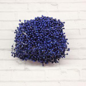 `Тычинки перламутровые двусторонние, 3х60мм, цвет №13 синий (1уп = 70-80 тычинок)