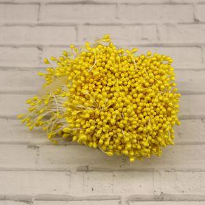 `Тычинки перламутровые двусторонние, 3х60мм, цвет №17 желтый (1уп = 70-80 тычинок)