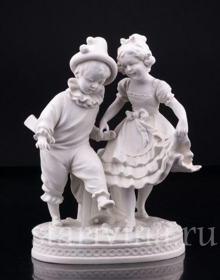 Изображение Мальчик Арлекин и девочка, Volkstedt, Германия, кон.19 в