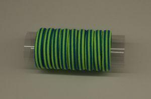Резинка для волос бесшовная 4 см, полоска, цвет № 05 лайм-синий (1уп = 24шт)