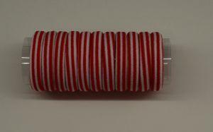 Резинка для волос бесшовная 4 см, полоска, цвет № 07 белый-красный (1уп = 24шт)