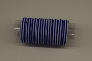 Резинка для волос бесшовная 4 см, полоска, цвет № 24 белый-синий (1уп = 24шт)