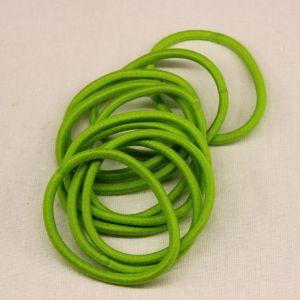Резинка для волос бесшовная, диаметр 50 мм, цвет 01 зеленый (1 уп=24 шт)