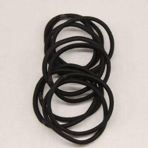 Резинка для волос бесшовная, диаметр 50 мм, цвет 06 черный (1 уп=24 шт)