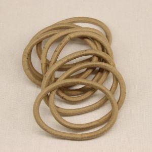 `Резинка для волос бесшовная, диаметр 50 мм, цвет 09 бежевый