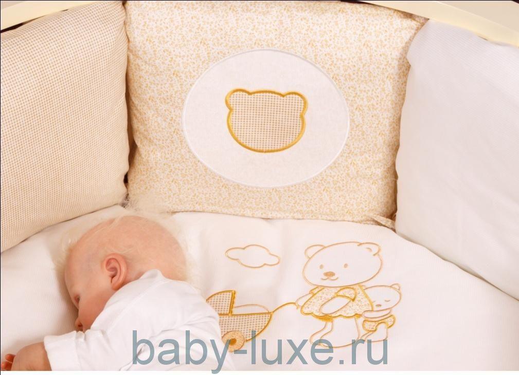 """Комплект 6 предметов 6082 Incanto """"Подушки"""" (для овальной и круглой кроватки)"""
