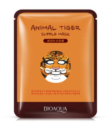 Тканевая маска для лица«BIOAQUA»  «Тигренок»- придающая упругость.(2249)