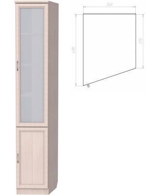 У-201. Шкаф для книг (консоль левая) 2216x360x490x370 мм  ВxШxГ