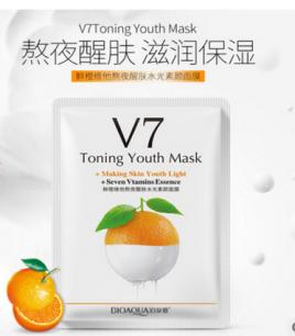 Витаминная маска «BIOAQUA» из серии V7 с экстрактом апельсина.(9255)