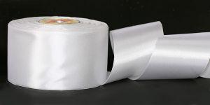`Лента САТИН, ширина 80 мм, цвет белый