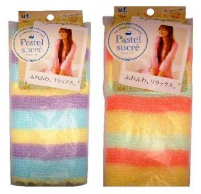 Мочалка массажная мягкая с добавление хлопка «Радуга» Оhе Pastel Wave Body Towel