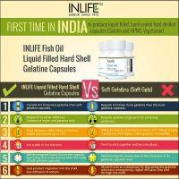 Рыбий жир Омега-3 в капсулах Инлайф | INLIFE Fish Oil Omega 3 fatty acids Supplement