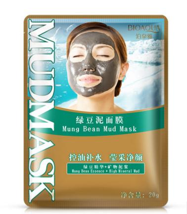 Очищающая маска «BIOAQUA»  с вулканической грязью и бобами Мунг.(7069)