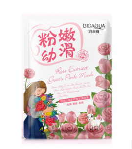 Маска «BIOAQUA» с козьим молоком и экстрактом из розы.(7441)