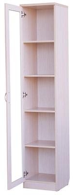 У-216. Шкаф для книг узкий  1850x376x370 мм  ВxШxГ