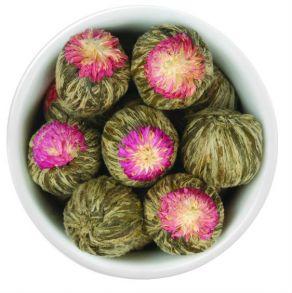 Зеленый связанный чай Сочный персик, штучно