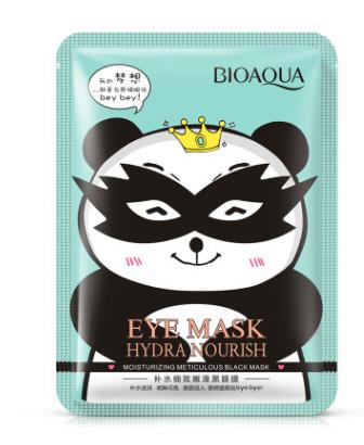Черная маска «BIOAQUA» для кожи вокруг глаз «Пандочка»(7038)