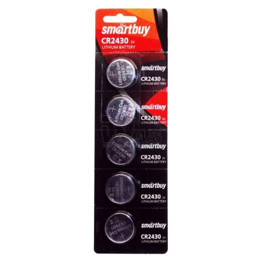 Батарейка литиевый элемент питания (диск) Smartbuy CR2430/5B