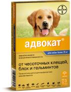 Адвокат 400 Капли от блох и гельминтов для собак свыше 25 кг (3 шт./уп.)