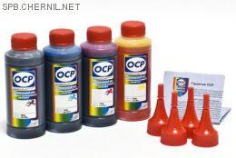 Чернила OCP для принтера и МФУ Canon MB2040, MB2140, MB2340, MB2740 (BKP230, CP230, MP230, YP230), картриджи PGI-1400, комплект 100гр. x 4