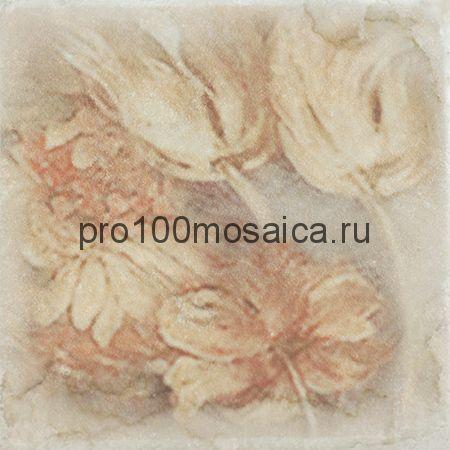 1511014-240-02240-2 Cir Marble Age Inserto Ottocento Botticino S/3 (4 Цветка) 10х10 см (CIR)