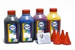 Чернила OCP для принтера и МФУ Canon G1400, G2400, G3400, G4400 (BKP230, C167, M167, Y167), с СНПЧ GI-490 , комплект 500гр. x 4