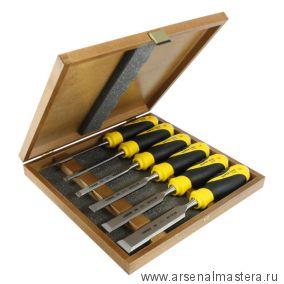 Набор из 6 столярных стамесок NAREX Super 2009 Line Profi плоских в деревянном ящике (6, 10, 12, 16, 20, 26 мм) 852900