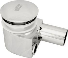 Сифон хромированный для раковины с внешним и внутренним переливом и донным клапаном