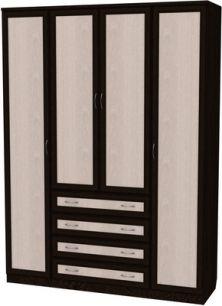 У-110. Шкаф для белья со штангой, полками и ящиками 2216x1640x490 мм  ВxШxГ