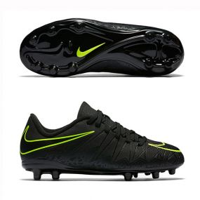 Детские бутсы Nike Hypervenom Phelon II FG чёрные