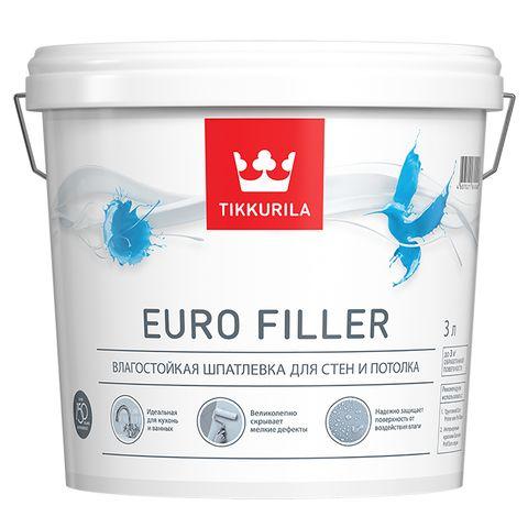 Евро Филлер – влагостойкая шпатлевка для стен и потолков