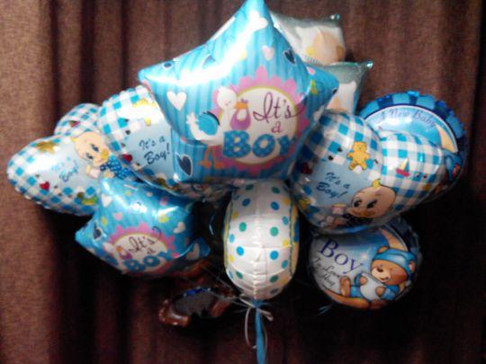 25 фольгированных шаров на выписку