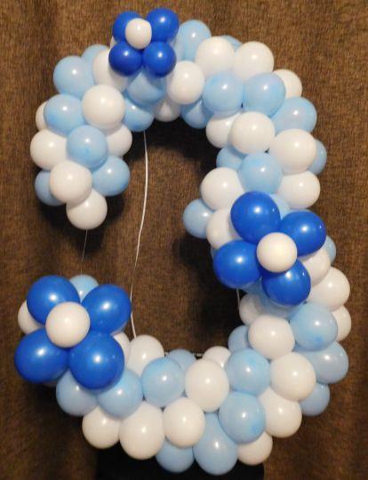 Цифра в синей гамме с 3 цветами