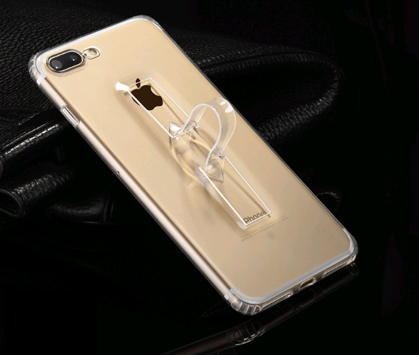 Чехол силиконовый HOCO для iPhone 7/8 FINGER HOLDER Прозрачный