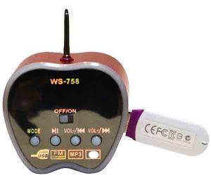 Портативная аудио колонка в виде яблока