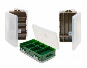 Коробка ТРИ КИТА ТК-32 двойная 6+5 отделений 190х112х50 мм