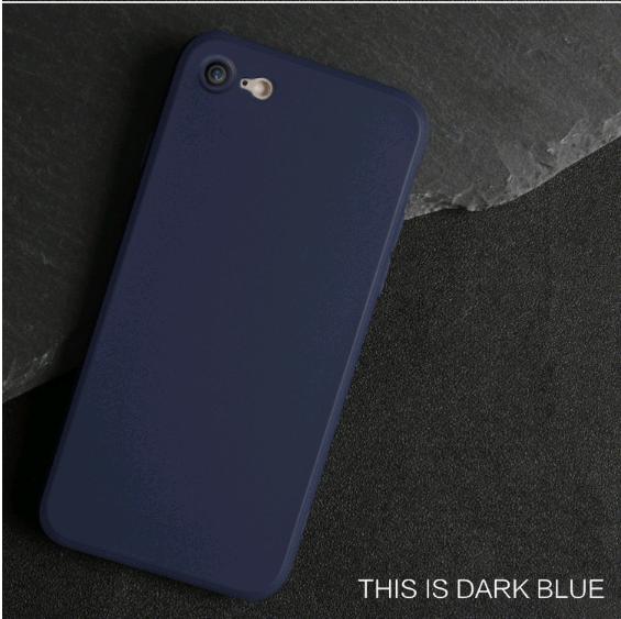 Тонкий силиконовый чехол матовый для iPhone 7/8 (Синий)