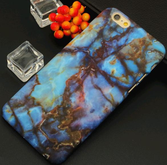 Чехол для iPhone 7/8 камень (Голубой)