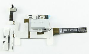 FLC (Шлейф) Apple iPhone 4S (на разъем гарнитуру с боковыми кнопками) (white) Оригинал